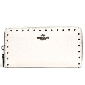 NWT ~COACH Accordion Zip Wallet with Rivets